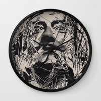 salvador dali Wall Clocks featuring Dali by nicebleed
