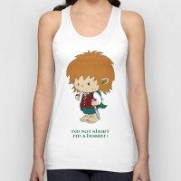 hobbit Tank Tops featuring I'm not short, I'm a hobbit by mangulica illustrations