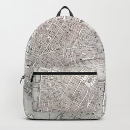 Vintage New York City Map Backpack