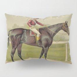 Grand Racer Kingston - Vintage Horse Racing Pillow Sham