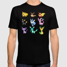 eevee evolution Mens Fitted Tee MEDIUM Black