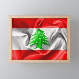 Lebanon Flag Framed Mini Art Print