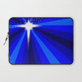 Blue Christmas Star Laptop Sleeve