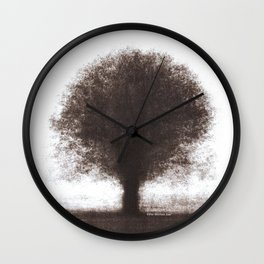 Tree - photopolymer/gravure Wall Clock