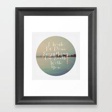 Everything On Earth Framed Art Print