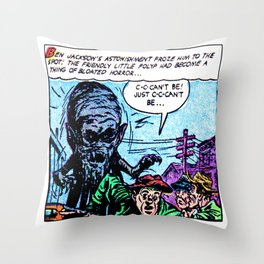 The Friendly Little Polyp Throw Pillow