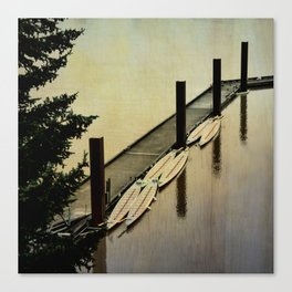 Rowing on the River Canvas Print