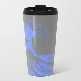 The Great Wave : Gray & Periwinkle Lavender Travel Mug