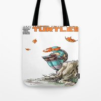 ninja Tote Bags featuring NINJA by Don Kuing