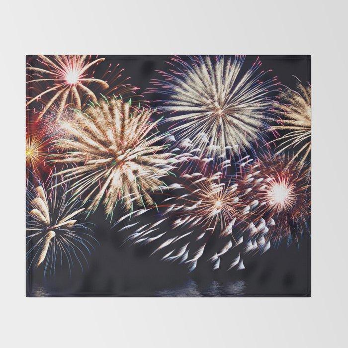 celebration fireworks Throw Blanket
