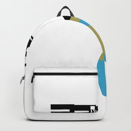 Faucet Dripping Water on Globe Retro Backpack