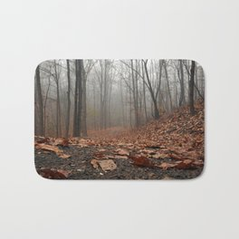 Foggy Trail. Bath Mat