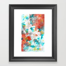 Watercolor abstract I Framed Art Print