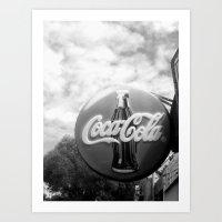 coca cola Art Prints featuring Coca Cola  by Chris' Landscape Images & Designs
