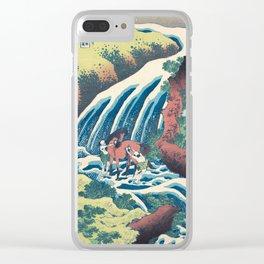 Katsushika Hokusai Horse and Waterfall Clear iPhone Case