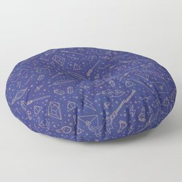 Yer a Wizard - Blue + Bronze Floor Pillow