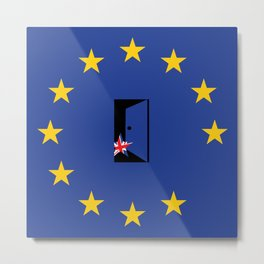 Brexit Flag Metal Print