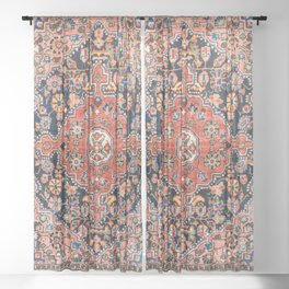 Djosan Poshti West Persian Rug Print Sheer Curtain