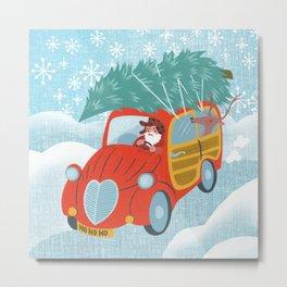 happy holidays car Metal Print