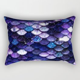 Mermaid Scales Glitter Rectangular Pillow