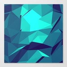 Blue Geometric Triangles Canvas Print