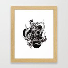 InsanitynArt's The True King of Hearts Original Illustration Framed Art Print