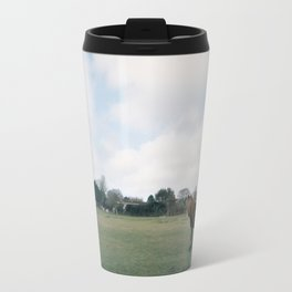 English horse roaming the prairies Travel Mug