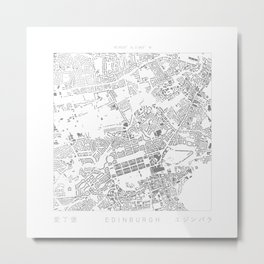 Edinburgh Figure Ground Metal Print