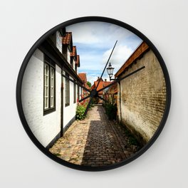 Narrow streets of Ribe Wall Clock