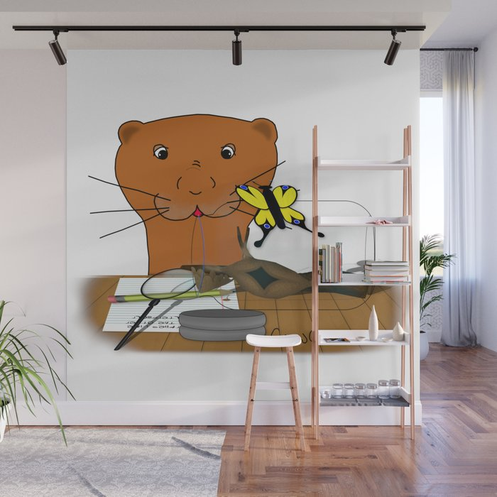 Homeschooling Oliver The Otter - The Butterfly Wall Mural