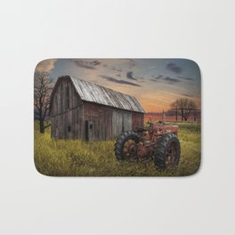 Abandoned Farmall Tractor and Barn Bath Mat