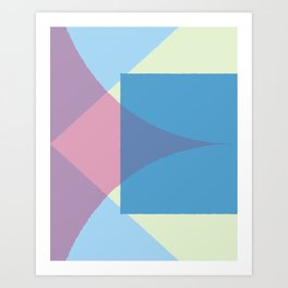 Cacho Shapes XCIX Art Print