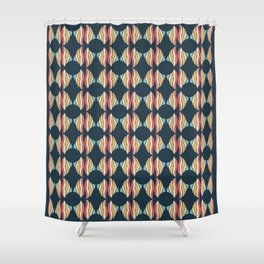 Oval and Diamond Sillouette Pattern Shower Curtain