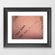 A Clear Message Framed Art Print