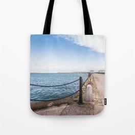 Dun Laoghaire pier Tote Bag