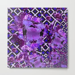 Amethyst Purple Gems February Birthday Babies Metal Print