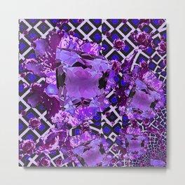 Amethyst Purple Gems February Birthday Babies Metal Print