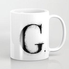 G. - Distressed Initial Coffee Mug