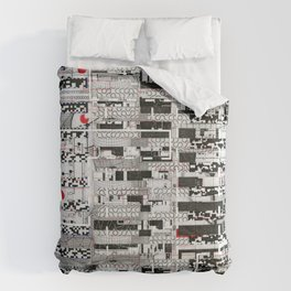 Opportunistic Species (P/D3 Glitch Collage Studies) Comforters