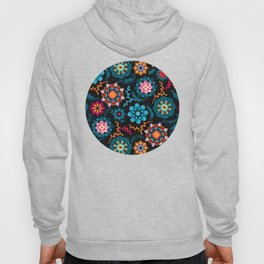 Suzani Inspired Pattern on Black Hoody