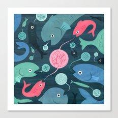 Fish Talk Canvas Print