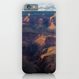 South Rim - Grand Canyon Illuminated in Evening Sunlight iPhone Case
