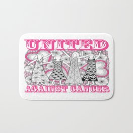 United Against Cancer - Breast Cancer Awareness - Zentangle Women Bath Mat