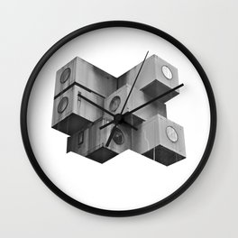 Architecture futur grey Wall Clock