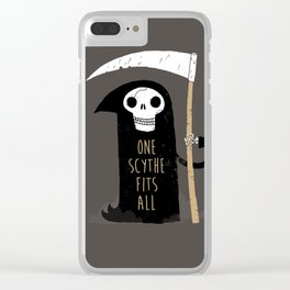 One Scythe Fits All Clear iPhone Case