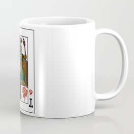 Tiki Warrior Playing Card Coffee Mug