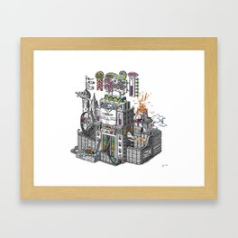The Tiñin Cat kingdom Visual Toy Framed Art Print