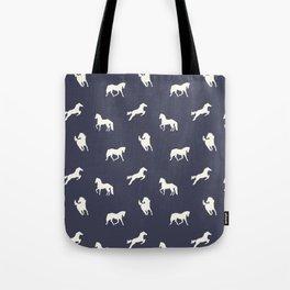 Horse Print (Navy Slate) Tote Bag