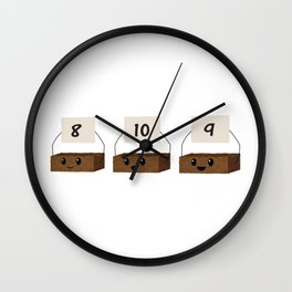 Brownie Points Wall Clock