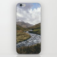 cassia beck iPhone & iPod Skins featuring Gatesgarth Beck flowing through the Honister Pass. Cumbria, UK. by liamgrantfoto